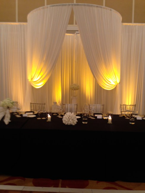 Wedding Drape over head table